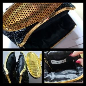 Vintage Gold & Black Evening Bag